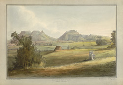 'Hill Fort of Bhow Mullen'. Captain James Barton, 12 Views of Hill Forts in the Western Ghats near Bombay, London, c.1820. Pl.1.